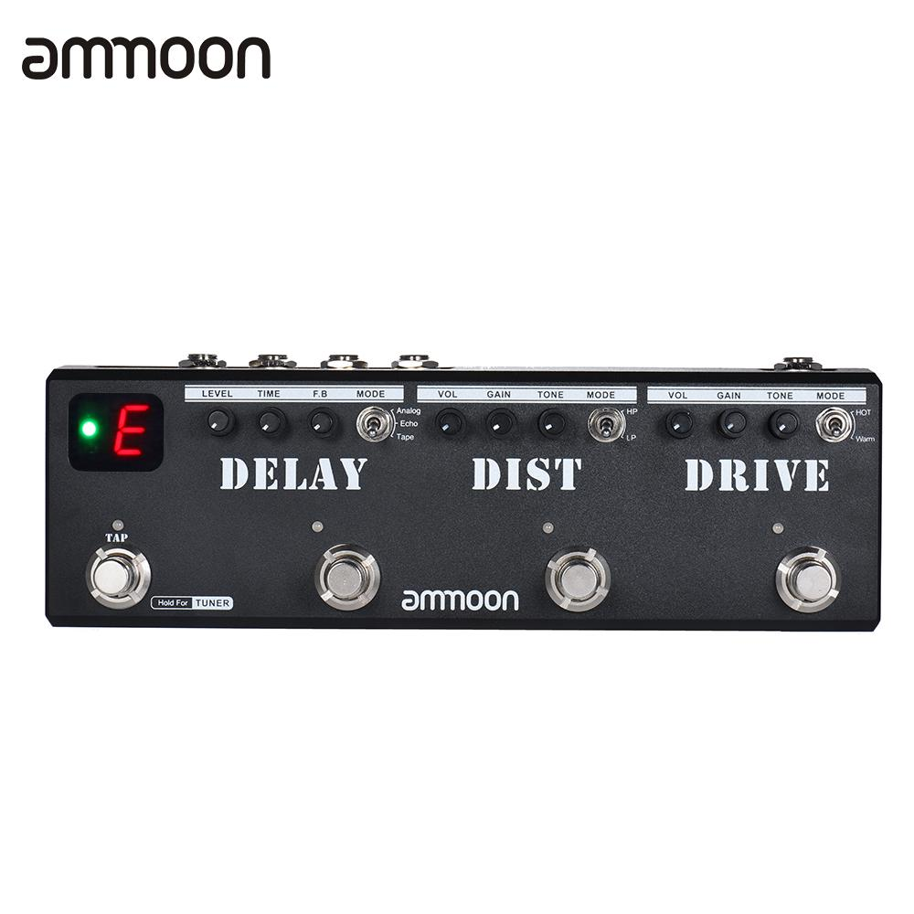 ammoon POCKMON Multi-Effects Pedal Strip with Tuner Delay Distortion Overdrive FX Loop Tap Tempo Effect Pedalammoon POCKMON Multi-Effects Pedal Strip with Tuner Delay Distortion Overdrive FX Loop Tap Tempo Effect Pedal