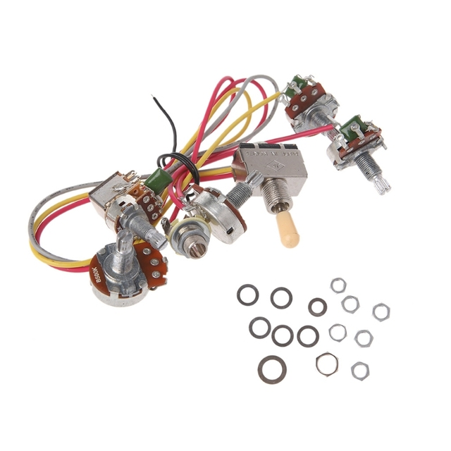 us $8 26 14% off electric guitar wiring harness kit 2v2t with pot jack 3 way switch for gibson lp in guitar parts & accessories from sports & wiring gibson 2 humbucker gibson wiring jack #5