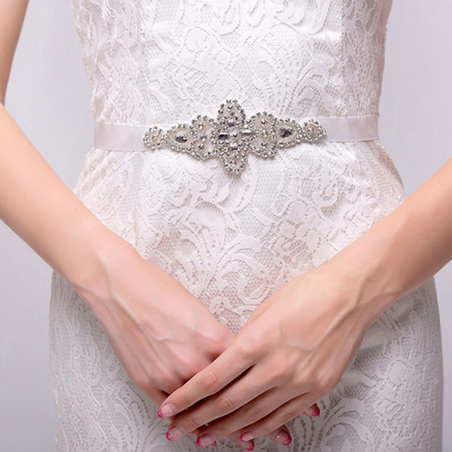 2016 New Arrival Wedding Belt Handmade Crystal Rhinestone Beaded Embellishment Waist Belt Wedding Bridal Sash for Women h91