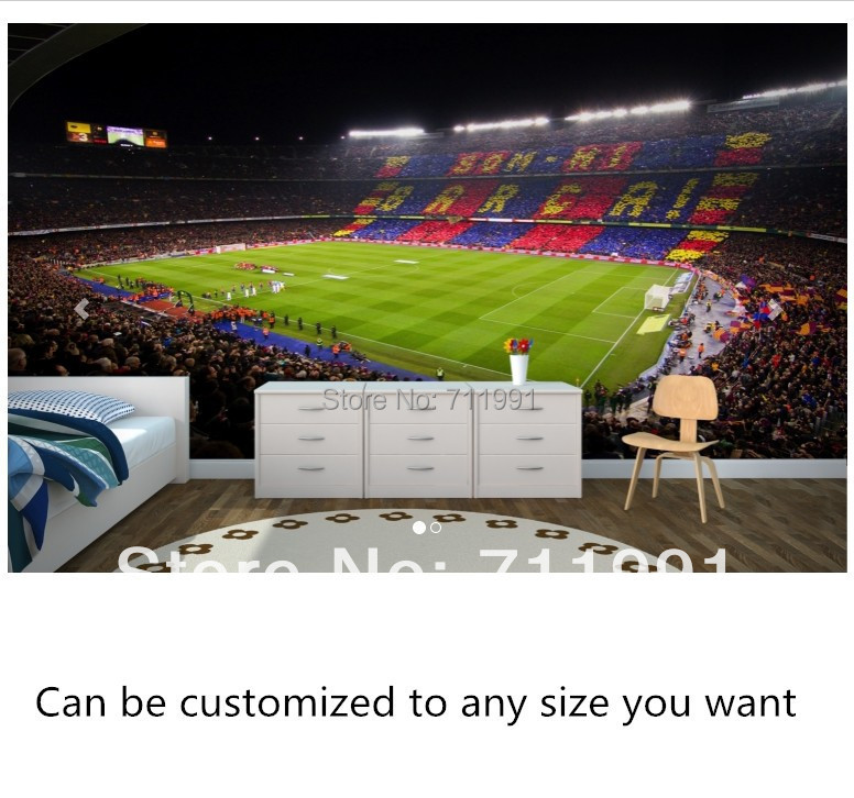 customization of modern wall paper stereo barcelona camp nou for living room bedroom tv setting wall barcelona bedroom
