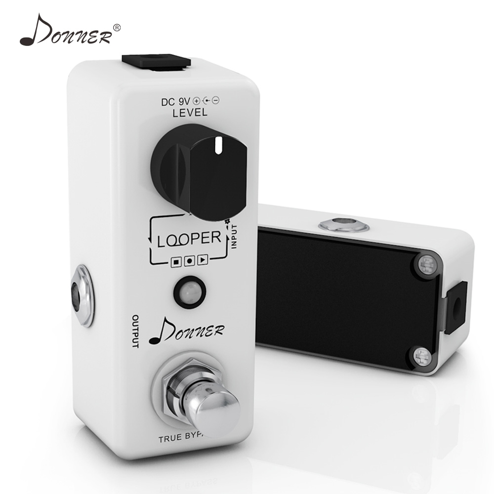 Donner Looper Pedal Mini Loop Recording Guitar Effect Pedal 10 Minutes Looping Time True Bypass Electric