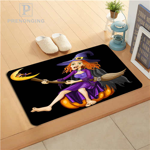 Custom Halloween Pumpkin Doormat Print slip-resistant Mats Floor Bedroom Living Room Rugs 40x60cm 50x80cm Free Shipping 171128-7