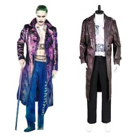 Batman Cosplay Suicide Squad Jared Leto Joker Cosplay Costume Coat Halloween Party For Boys Male Coat