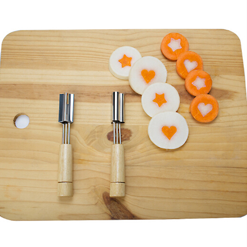 Stainless Steel Cookie Molds <font><b>Flower</b></font>/Heart/Star Shape Cookie <font><b>Cutter</b></font> With Wooden Handle Baking Pastry <font><b>Cake</b></font> <font><b>Decorating</b></font> image