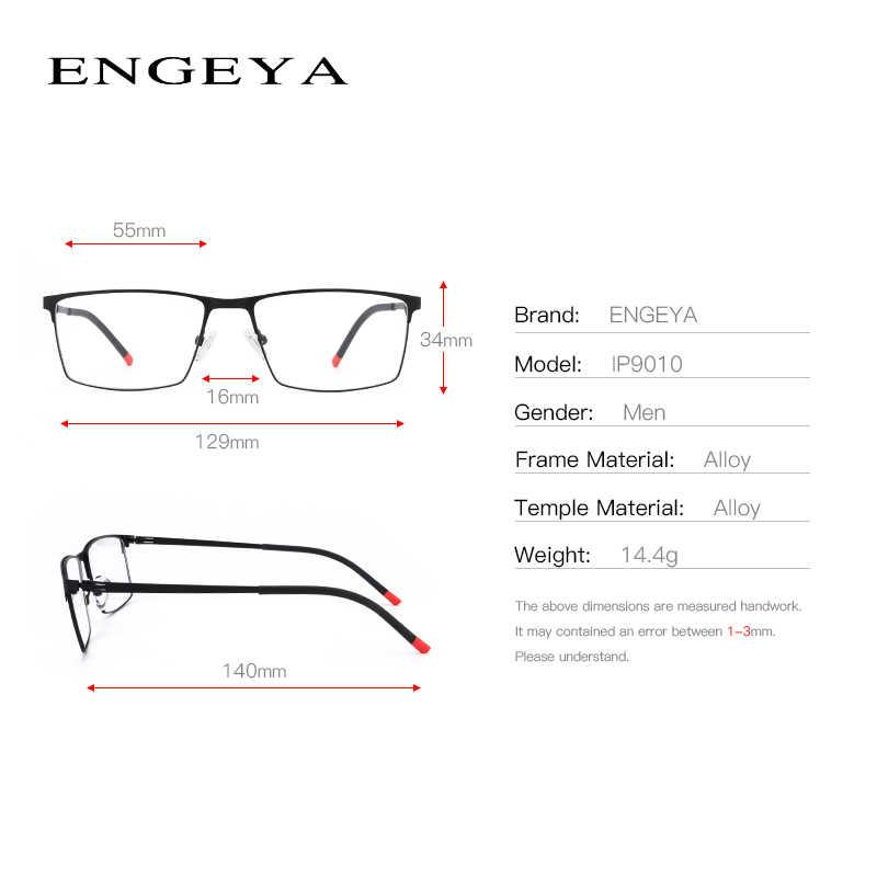 27c203c13b8 ... Optical Metal Glasses Frame Men Retro Clear Myopia Prescription Eyewear  Square Designer Eyeglasses Frame Unique Hinge ...