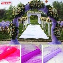 Tül rulo 72CM * 10M kristal tül organze tül elbise rulo biriktirme Tutu yumuşak düğün doğum günü partisi 8zSH015