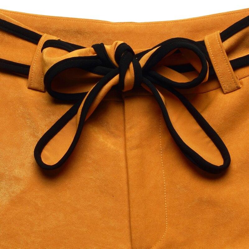 Color Personalidad Pure Ol yellow Cintura Black Bottom Alta 2018 Mujeres Casual Streetwear Pierna Amplia Cómodo Pantalones Elegante Bell qqOZw67