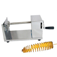 Potato Strip Cutter Machine Spiral Cutting Chips Slitter Kitchen Gadget Accessories Cooking Tools Hand Crank Chopper
