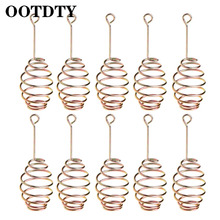 OOTDTY 10 Pcs/Set Fishing Bait Spring Lure Inline Hanging Tackle Stainless Steel Feeder