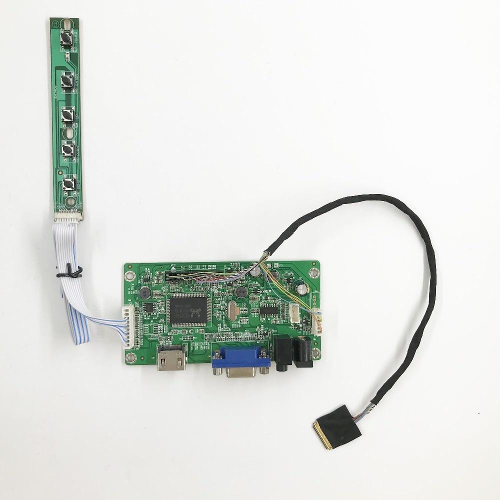 Kit de carte contrôleur HDMI VGA Audio EDP Lcd pour panneau lcd 14 pouces 1920X1080 edp B140HAN01.1with alimentation 12 v