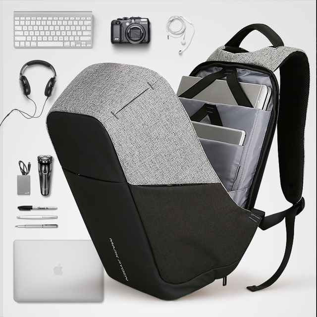 Multifunction USB charging Men 15inch Laptop Backpacks For Teenager Fashion Male Mochila Leisure Travel backpack anti thief 3