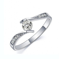 Eternal Love Authentic 925 Sterling Silver Jewelry Ring CZ Diamond Engagement Wedding Jewelry Women Men S
