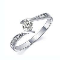 Eternal Love Authentic 925 Sterling Silver Jewelry Ring CZ Diamond Engagement Wedding Jewelry Women Men S