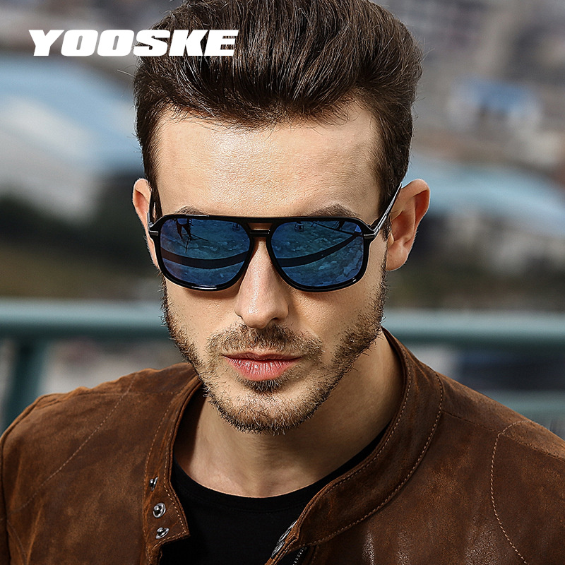 Aggressiv Yooske Hohe Qualität Polarisierte Sonnenbrille Männer 2018 Klassische Fahren Sonnenbrille Mann Marke Design Sonnenbrille Spiegel Retro Brille Schrumpffrei