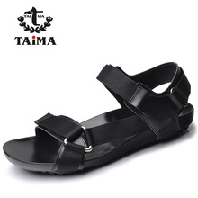2016 Summer Fashion New Style Men Genuine Leather Sandals  Comfortable Breathable Casual Sandals Shoes For Men Brand TAIMA 40-45