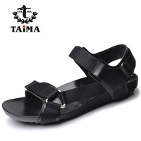 TAIMA Brand Big Discount Summer Fashion Men Genuine Leather Sandals Comfortable Sandals Shoes For Men Brand