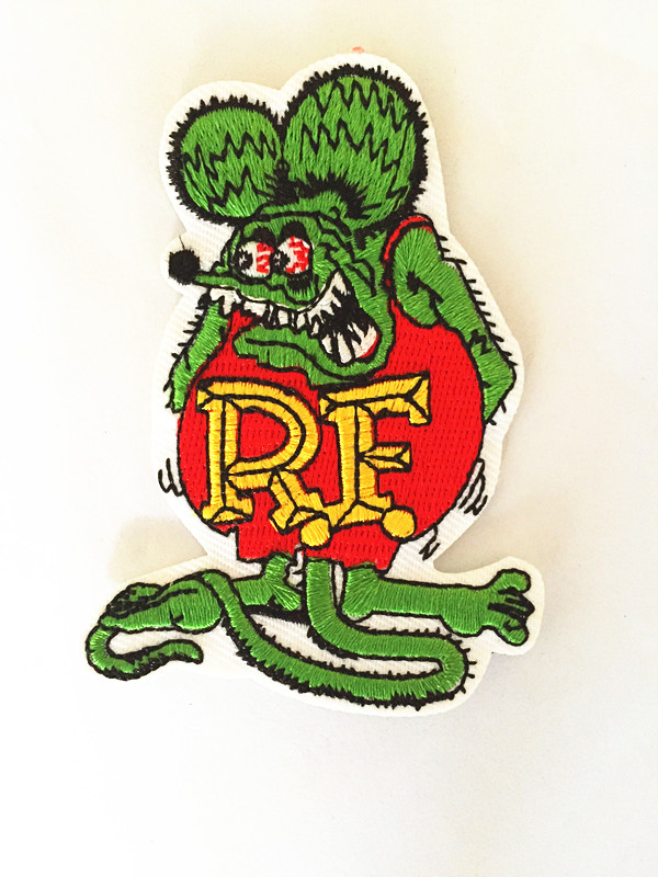 One Piece RF Rat Fink Ratfink Mouse Jacket Patches For Clothing Rock Patch Husky Set