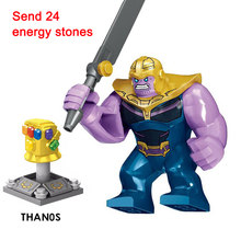 Marvel's DC Avengers 3 Thanos Building Blocks legoING New Infinity War Iron Man Block Compatible with Super Hero Bricks kids Toy(China)