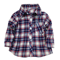 2 4 5 year little boys Long Sleeve Blue Plaid Woven Shirt kid boys Button Down Collar Shirt kid toddler boy button Front Shirt