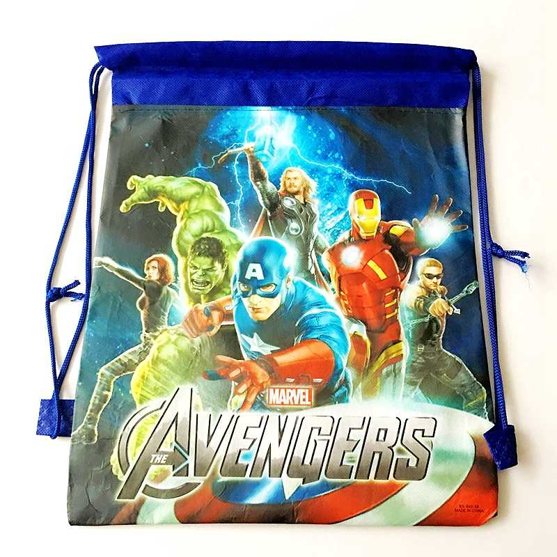 漫画ミニーミッキーマウス収納袋パーティーギフトバッグユニコーンスーパー hero プリンセスソフィア子供の誕生日のバックパックの袋