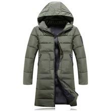 2018 New Winter Mens Parkas Long Thicken Men Cotton Padded Coat Korea Style Warm Parka Jacket Armygreen Black Blue Plus Size 3XL