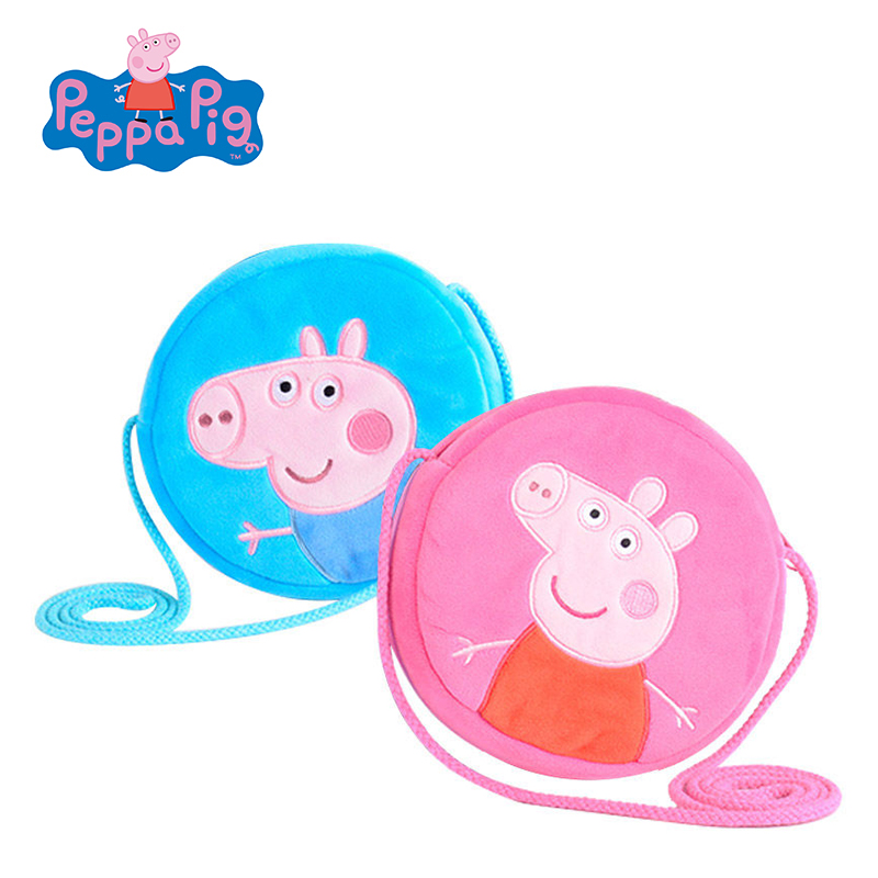 Original Peppa George Pig Plush Toys Kids Girls Boys Kawaii Kindergarten Bag Backpack Wallet Money School Bag Phone Bag Dolls genuine peppa pig 44cm cartoon peppa s toy ukulele kids toys gift fun to learn perfect way for kids to get started with music