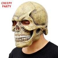 Crânio assustador Máscara Cabeça Completa Realista Máscaras de Halloween Máscara Do Partido Máscara de Látex Horror Cosplay Adereços Brinquedo