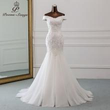 PoemsSongs nouveau style belle trois dimensions fleur dentelle robe de mariée 2020 Vestido de noiva robe de sirène robe de mariee