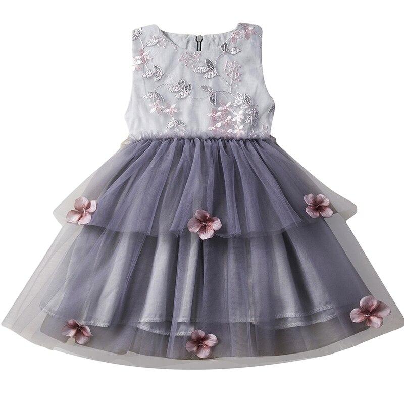 6cbf4141b Kids Girls Flower Dress Baby Butterfly Birthday Party Dresses ...