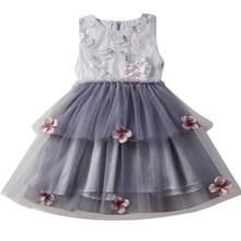 ca145948ce9f42 Meisje Kleding Baby Bloem Zomer Jurk Tutu Prinses Meisje Infantil Vestidos  Jurken Kids Casual Wear Kinderen