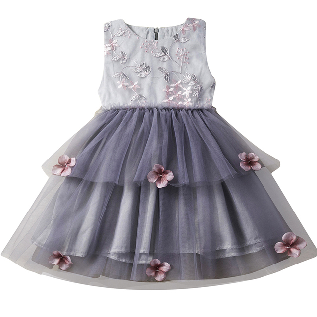 1cc2e337357c9 US $4.8 23% OFF|Dress Girl Clothes Baby Flower Summer Frock Tutu Princess  Girl Infantil Vestidos Dresses Kids Casual Wear Children Party Wear-in ...