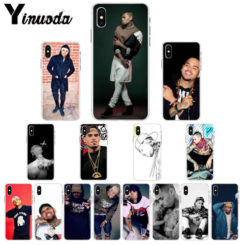 Yinuoda Chris коричневый Breezy Coque Shell чехол для телефона iPhone 8 7 6 6S Plus 5 5S SE XR X XS MAX Coque Shell