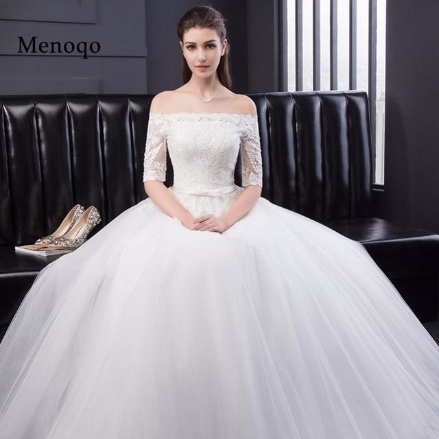 Echt Bild Neue Ankunft Vintage Hochzeit Kleid Schulterfrei ...