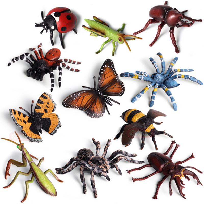 Toy-Figure Collectible-Doll Simulation-Model Action Insect Animal-World Handmade Children