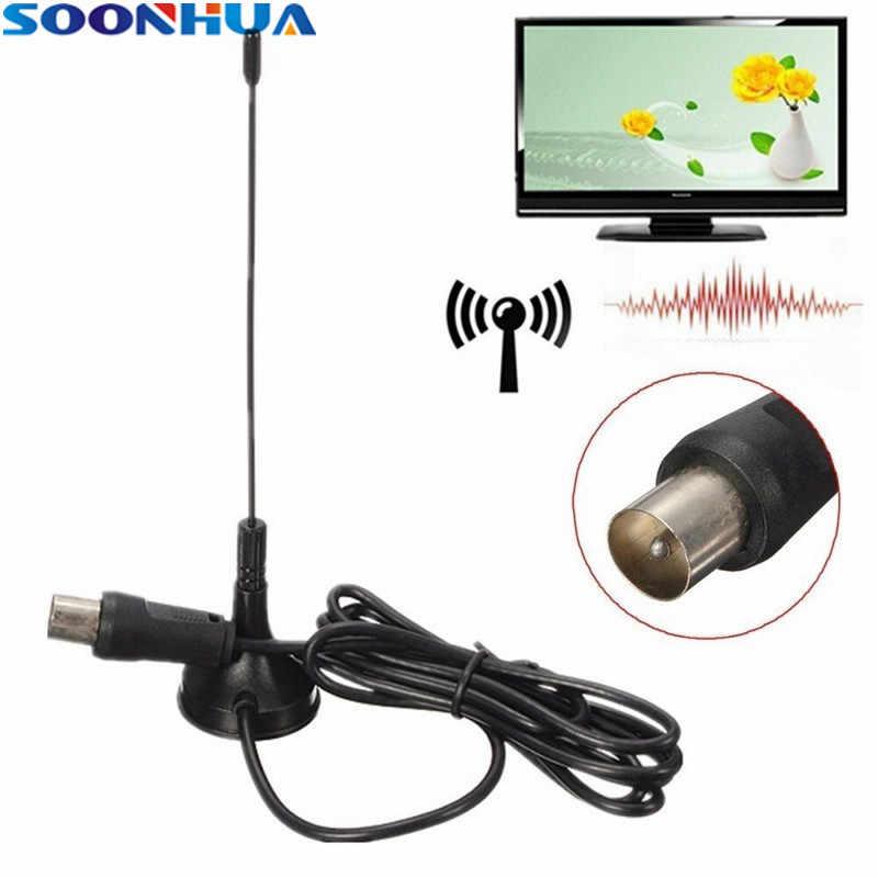 SOONHUA PC Mini Sucker 50 Meilen Indoor HDTV Antenne 4 karat 1080 p 25dB Digital DVB-T Tv-antenne Antenne Booster mit 3,7 mt Längere Kabel