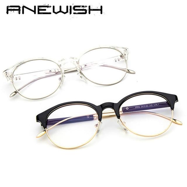 ANEWISH New hot Baratos Rodada óculos armação de metal aro da armação para  as mulheres homens 6966094bbb
