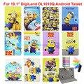 "Kids Cartoon Minions Amarillo Hello Kitty Súper Héroes Spiderman Cubierta Funda de piel Para 10.1 ""DigiLand DL1010Q Android Tablet"