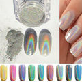 Prego A Laser Glitter Pó brilhante Rainbow Pigmento Pigmentos Decorações Da Arte Do Prego Manicure