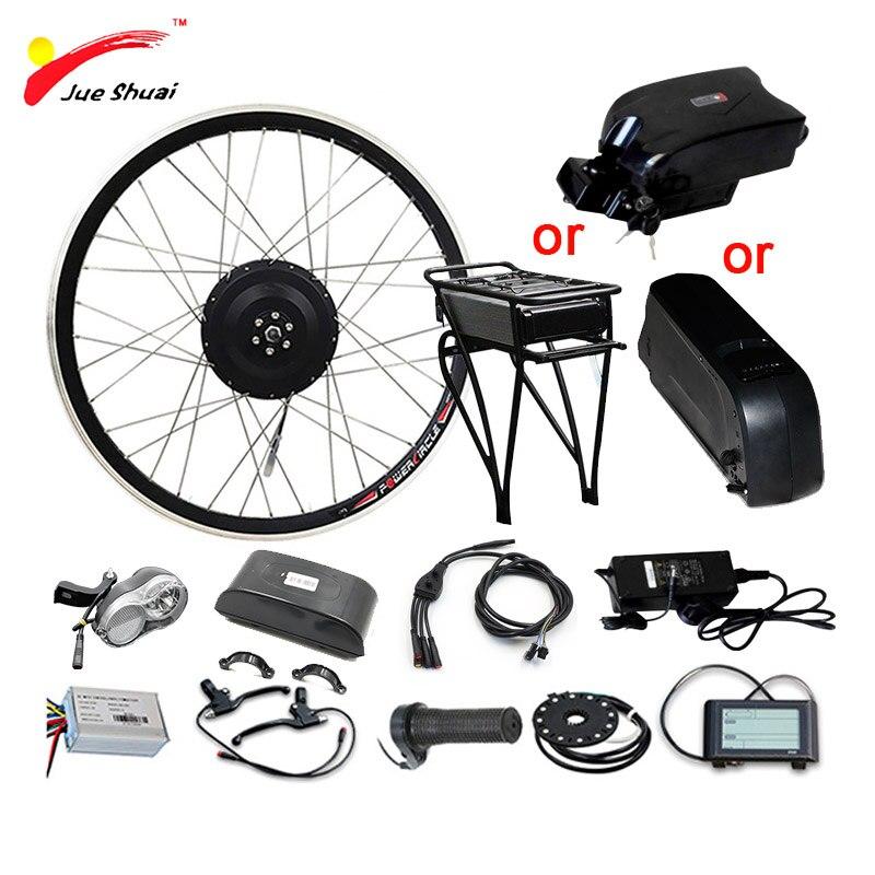 48V 350W 500W Electric Bike Kit for 20 26 700C Wheel Motor 48V10AH Lithium Battery Ebike