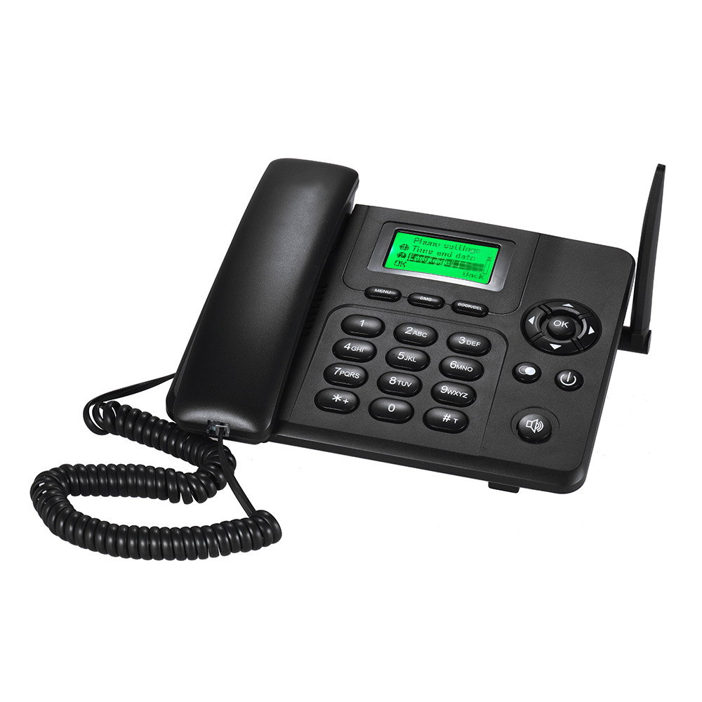 ROYAUME-UNI Prise De Bureau Sans Fil Téléphone GSM Fixe Téléphone Support Carte SIM 2G pour Maison Maison Appel Center Bureau Société hôtel