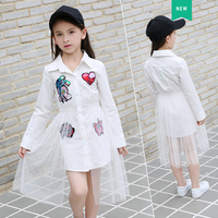 Teen Girl Sets 9 10 11 12 13 14 16 5 Years Cotton Top + Mesh Skirt 2pcs Children Clothes Fashion Causal Kid Girls Clothing Set
