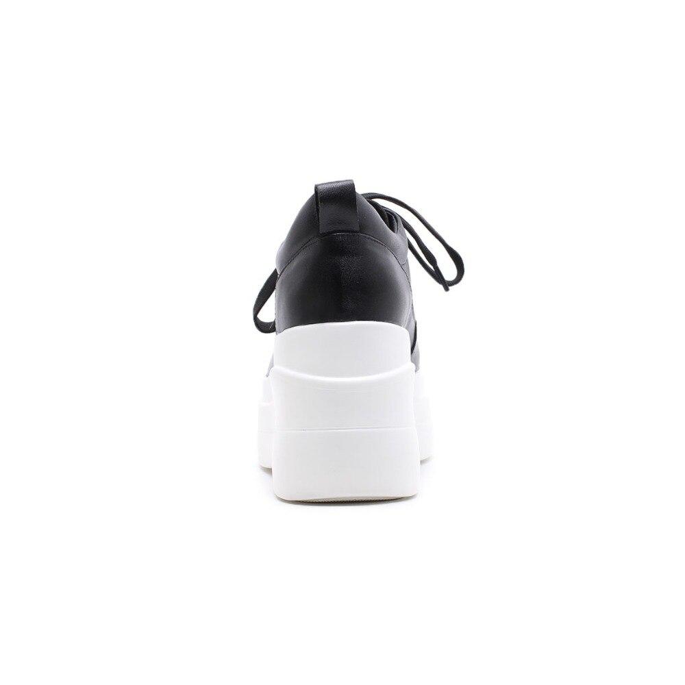 blanco Diseño Pie 2019 Olla Cuero Zapatos Superestrella Negro Calle La Moda Original Dedo De Del Alta Mujeres Vaca Plataforma L1f1 Krazing Causal Redondo WxcvnwBqpB