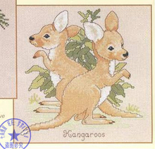 Needlework,DIY Cross Stitch,Sets For Embroidery kits,11CT&14CT,Two kangaroos