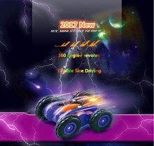 Мини rc stunt car 606 2.4 ГГц 360 градусов вращения двусторонняя четыре колеса дистанционного управления Гоночная машина со светодиодной подсветкой для подарок для ребенка
