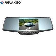 Relaxgo 4.3″ Car DVR Rearview Mirror Video Recorder Full HD 1080P Car Camera Dashcam Night Vision Auto Registrators Black Box