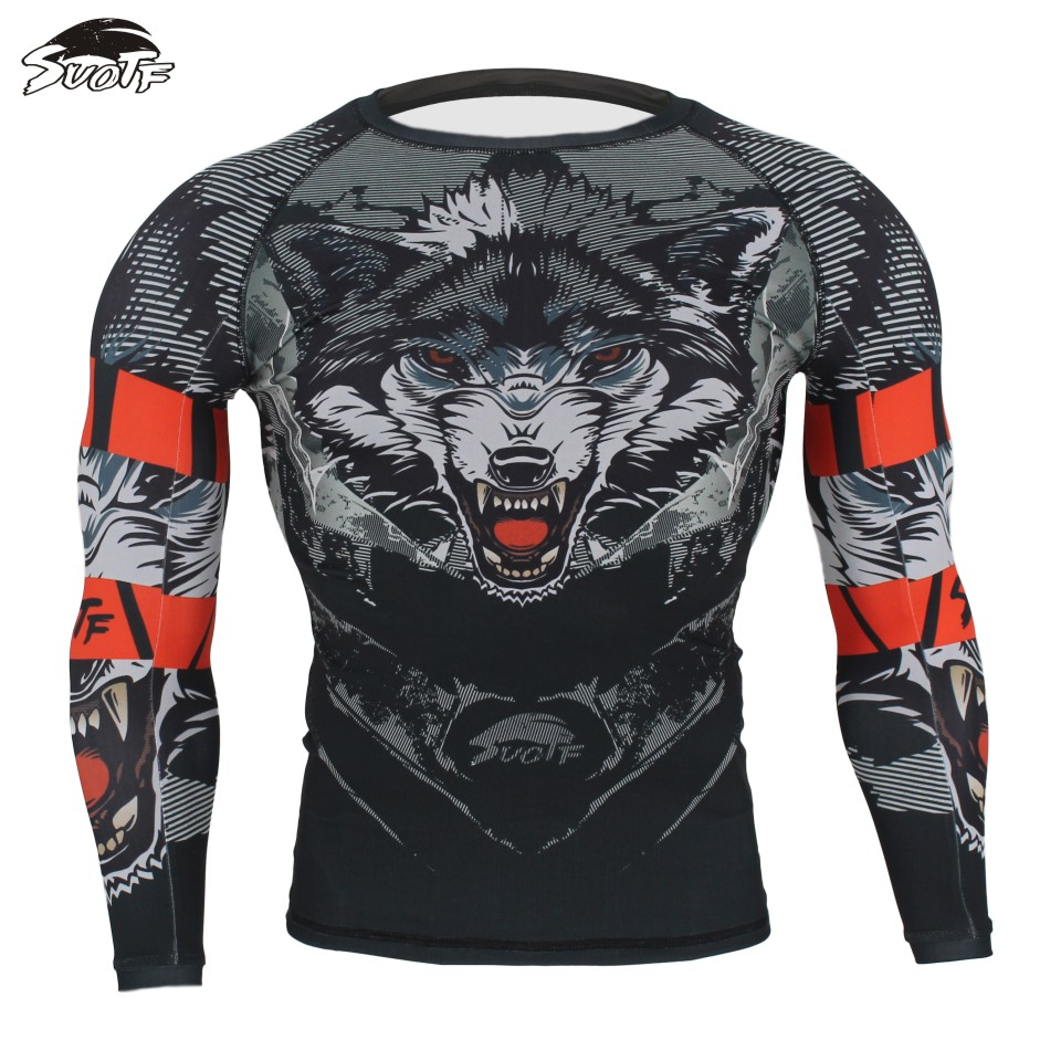 SUOTF MMA Black Ferocious Wolf Head Fighting Boxing Fitness Sweatshirt Boxing Jerseys Tiger Muay Thai Yokkao Thai Boxing Shorts