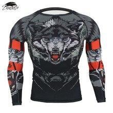 SUOTF MMA Sudadera negra con cabeza de lobo feroz para boxeo, Fitness, camisetas de boxeo, tiger, muay thai, yokkao, pantalones cortos de Boxeo Tailandés