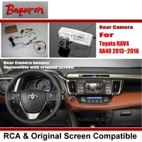For Toyota RAV4 RAV 4 XA40 2013~2016 / RCA & Original Screen Compatible Rear View Camera / Back Up Reverse Camera Sets