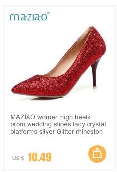 5d036c95a MAZIAO Plus Size34-43 Sapatos gladiador Das Mulheres Sandálias Das Senhoras  Sapatos de Casamento de Fundo vermelho Sapatos de Salto alto Preto Ouro  Prata ...