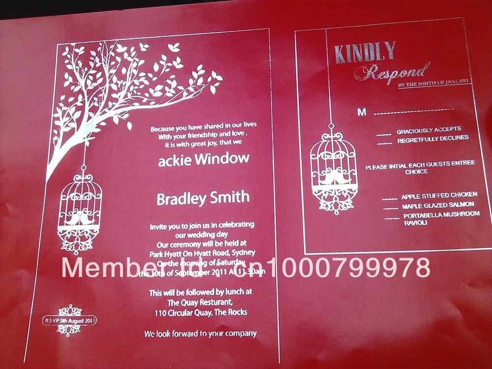 High quality digital offset foil printer for wedding invitation ...